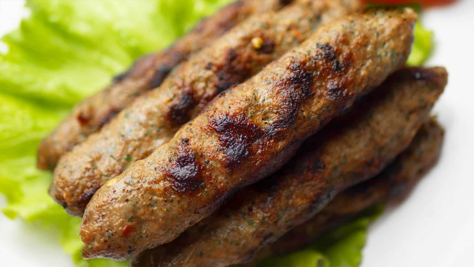 Homemade Seekh Kebab